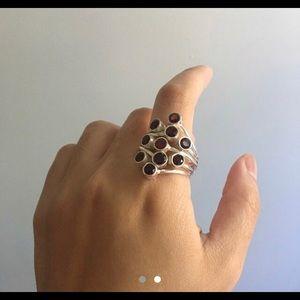 Jewelry - Garnet Gemstones Ring